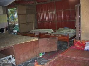 スバエクトム工房内にある、子供たちのベッド